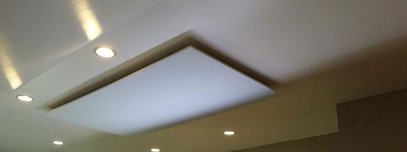 Infrared Heating Panel with integrated lights on wall