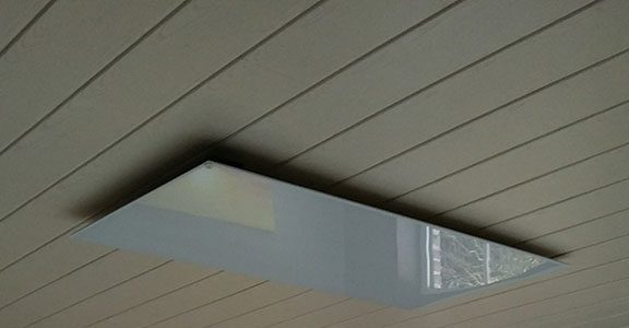 Infrared Heating Panel on ceiling